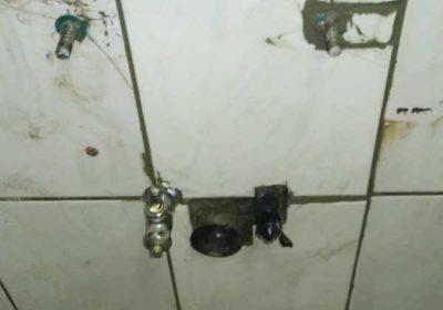 臉盆底下漏水檢修抓漏打壁接管磁磚復原-台中市西屯區