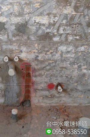 廁所冷熱水排水管糞便修改重新配管-台中市南屯區-水電維修案例-台中水電速修師