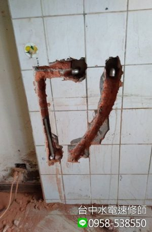 流理台冷熱水管修改-台中市南屯區-水電維修案例-台中水電速修師